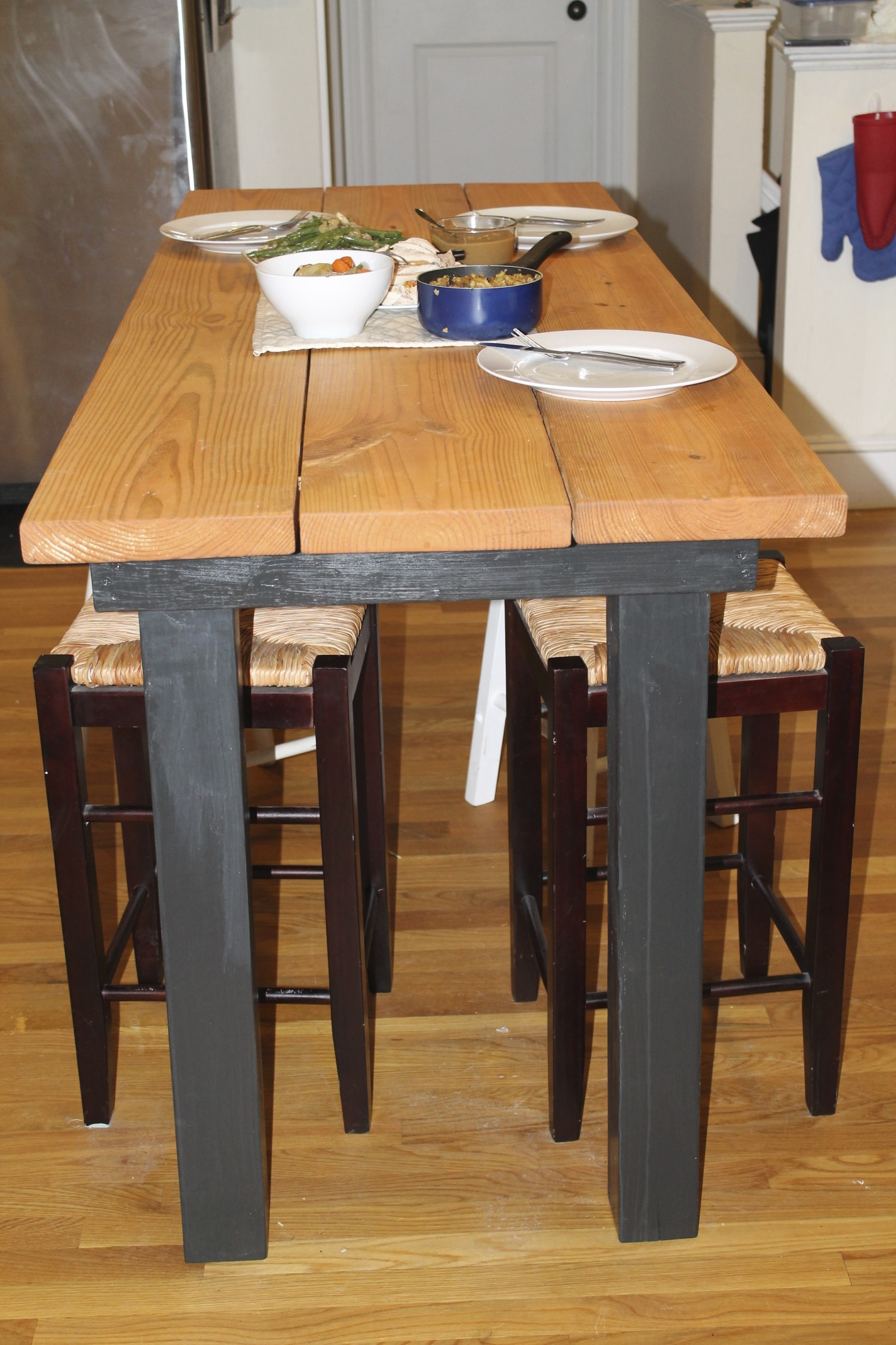 diy building bar height table plans free